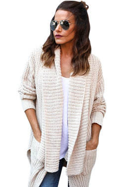 Chicloth Apricot Comfy Cozy Pocketed Cardigan