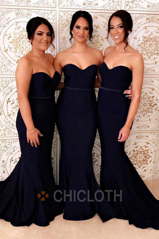 Chicloth Simple Designed Sweetheart Bridesmaid Dresses