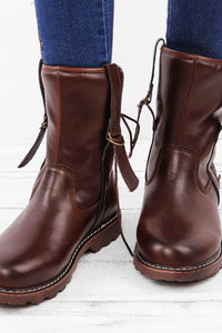 A| Chicloth Women's Martin Boots Vintage Cowboy Shoes Boots-Boots-Chicloth