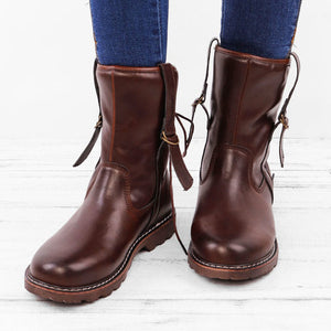 A| Chicloth Women's Martin Boots Vintage Cowboy Shoes Boots