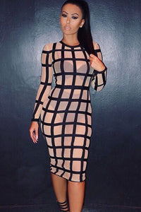 Chicloth Bandage Caged Panty Lined Dress