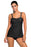 A| Chicloth Black 2Pcs Swing Tankini Swimsuit-Tankinis-Chicloth