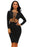 Black CrissCross Cut Out Dress-sale-Chicloth
