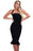 Chicloth Black Halter Mermaid Midi Bodycon Bandage Dress with Flare-Bandage Dresses-Chicloth