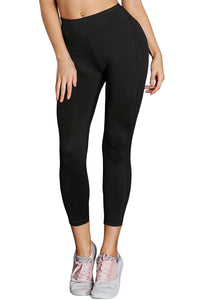 Z| Chicloth Black High-Rise Mesh Patchwork Gym Sport Yoga Leggings