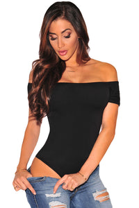 A| Chicloth Black Off Shoulder Bodysuit