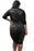 Chicloth Black Plus Size Laced Overlay High Low Dress-Plus size Dresses-Chicloth