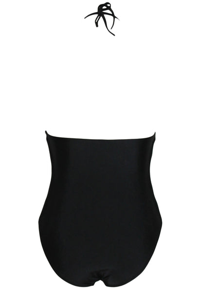 Chicloth Black Strappy Cut outs One piece Swimwear