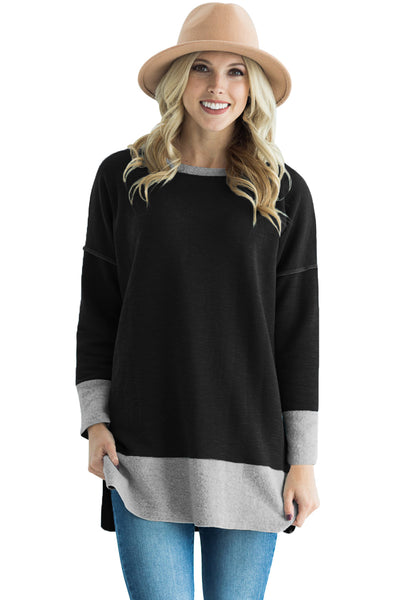 Chicloth Black Two Tone French Terry Sweatshirt
