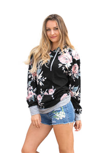 Chicloth Blue Floral Summer Hoodie