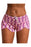 Z| Chicloth Blue Pink Drawstring Waist Boyshort Beach Bottom-Chicloth