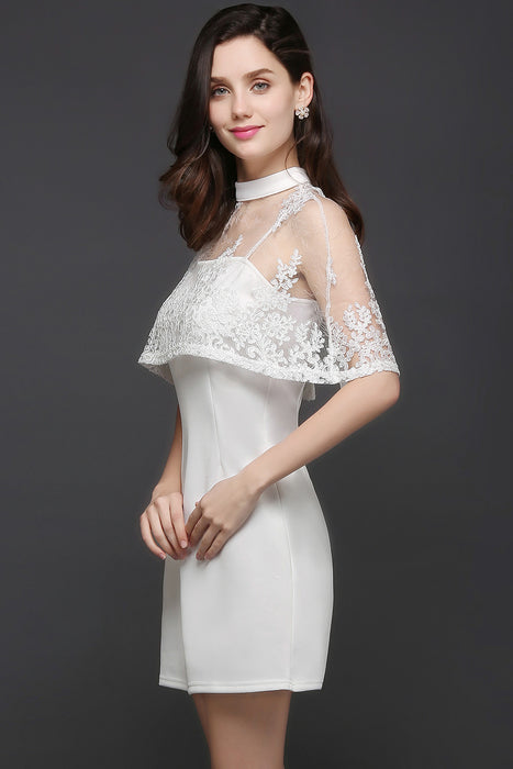 Chicloth See-through White Homecoming Dress-Chicloth