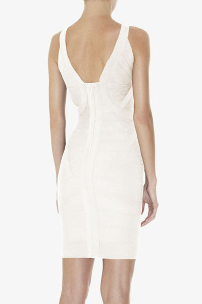 Chicloth Celebrity Hot-selling White Bandage Dress-Bandage Dresses-Chicloth