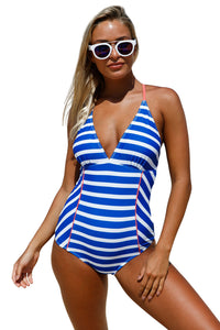 Chicloth Chambray One Piece Bathing Suit