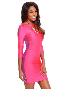Chicloth Chic Pink Purple Open Back Bodycon Dress