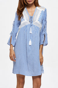 Chicloth Blue inside my heart Causal Dress - Chicloth