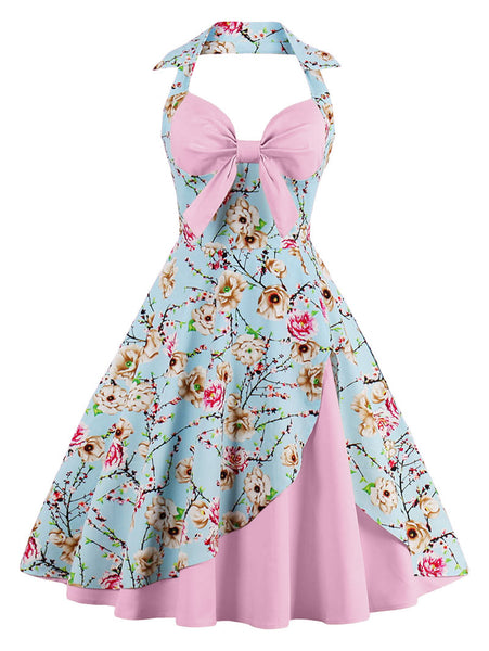 Chicloth Breezes of the sky Halter Vintage Dress - Chicloth