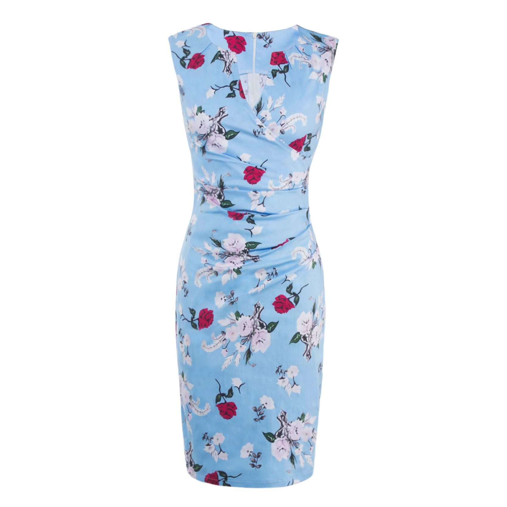 Chicloth Cherish Forever Floral Pencil Dress - 2XL