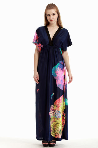 Chicloth Cotton Field Sexy Plus Size Maxi Dress