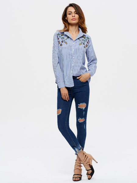 Chicloth Distressed Skinny Ankle Jean