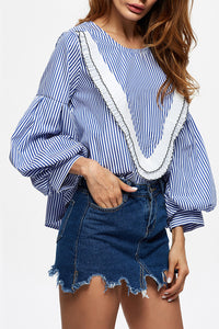 Chicloth Every heart sings a song Striped Blouse - Chicloth