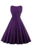 Chicloth Bright and Dark Purple Vintage Dress