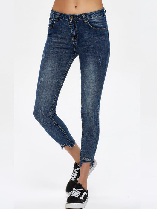 Chicloth High Low Hem Skinny Jean-Jeans-Chicloth