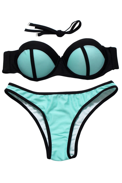 Chicloth Just Walking In The Sun Contrast Bikini-Minimal style-Chicloth