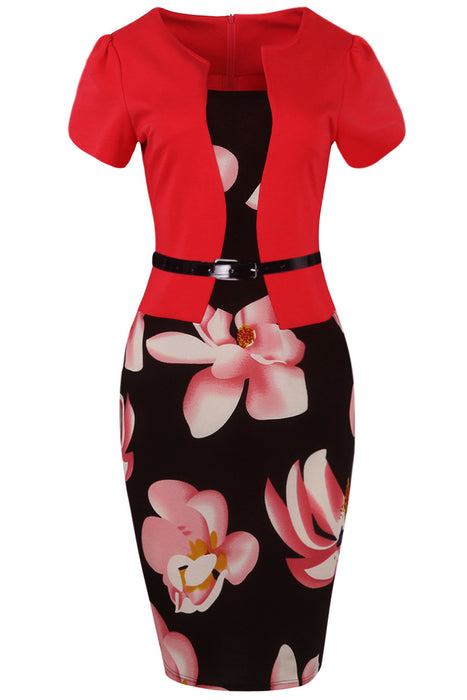 Chicloth Love Stoned Work Day Pencil Dress-Chicloth