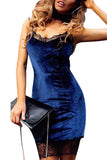 Chicloth One Love Velvet Bodycon Dress