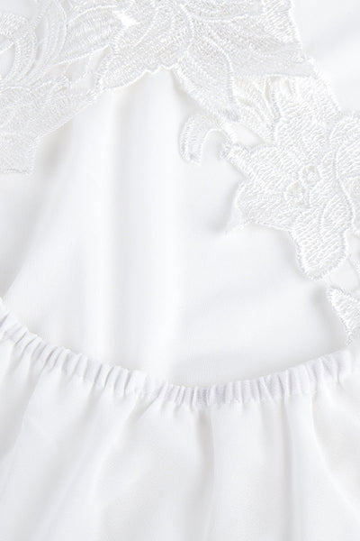 Chicloth Only You Crisscross White Lace Dress-Dresses-Chicloth