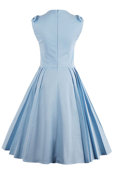 Chicloth Right here Waiting Light Blue Vintage Dress-Dresses-Chicloth