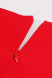 Chicloth Season In The Sun Red Pleats Princess Dress