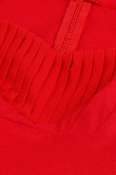 Chicloth Season In The Sun Red Pleats Princess Dress - Chicloth