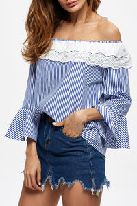 A| Chicloth Stars are Whispering Ruffle Blouse - Chicloth