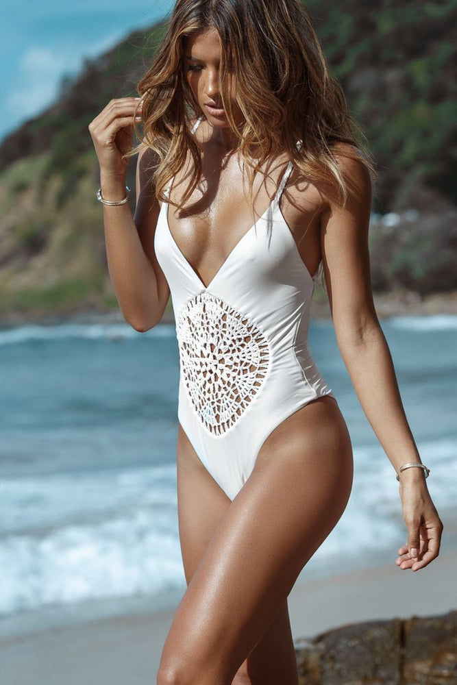 Chicloth Turn Silences into Words One-piece Swimsuit-swimwear-Chicloth