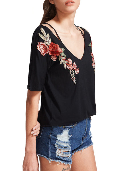 Chicloth With You Deep V-neck Top
