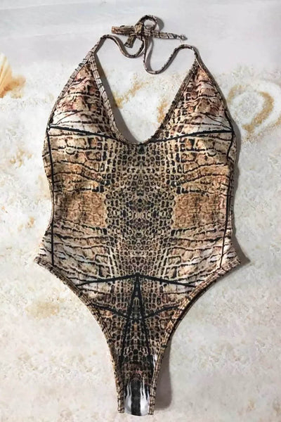 Chicloth When you Believe Serpentine Print One Piece - Chicloth