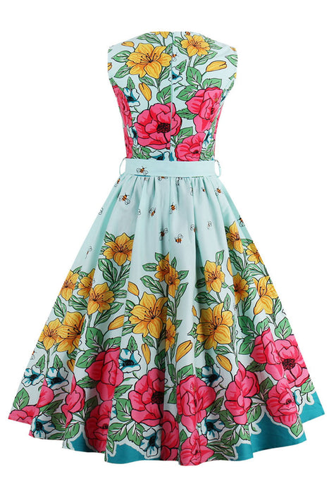 Chicloth Happy Spring Rose Garden Vintage Dress-Dresses-Chicloth