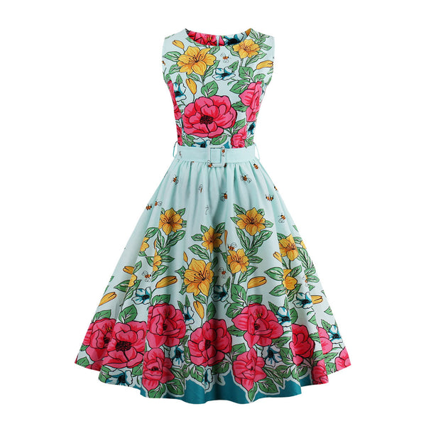 Chicloth Happy Spring Rose Garden Vintage Dress - Chicloth