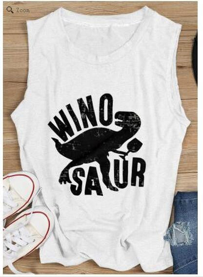 Chicolth Dinosaur Mad Sexy Cool Vest-Tops-Chicloth