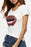 Chicolth Sparking Lips White T-shirt-Tops-Chicloth