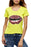 Chicolth Sparking Red Lips Yellow T-shirt-Tops-Chicloth