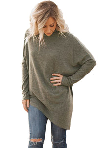 Chicloth Coffee Soft Faux Poncho High Neck Sweater