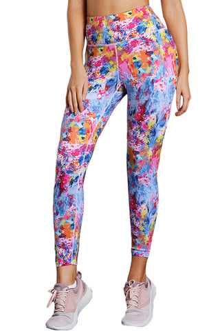 Z| Chicloth Colorful Tie Dye Print Skintight Yoga Pants