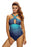 Chicloth Cross Straps Ocean Flavor Two Piece Swimsuit-Tankinis-Chicloth