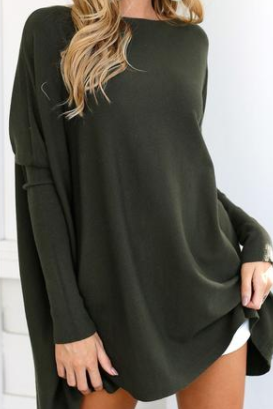 Chicloth Autumn Sweet  Long Sleeve Oversize Sweater