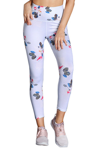 Z| Chicloth Discrete Print High Waist Sport Leggings in White