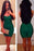 Chicloth Elegant Formfitting Bandage Dress in Dark Green-Bandage Dresses-Chicloth
