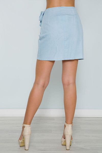 Chicloth Asymmetrical Side tie Skirt